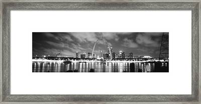 Evening St Louis Mo Framed Print by Panoramic Images