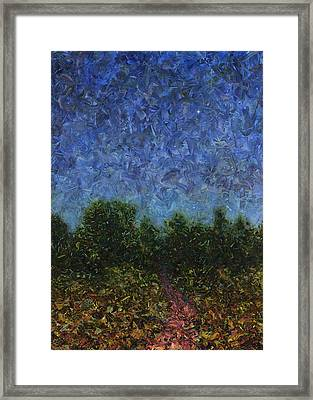 Evening Star Framed Print by James W Johnson