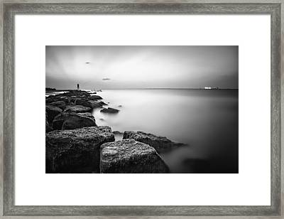 Evening Stillness Bw Framed Print by Thomas Zimmerman