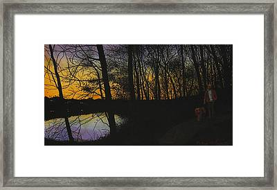 Evening Stroll Framed Print by Peter Plant