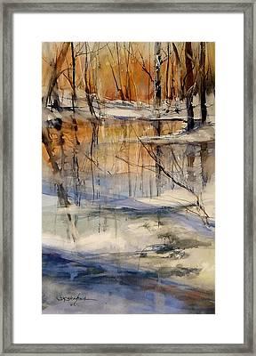 Evening Thaw Framed Print by Sandra Strohschein