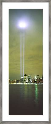 Evening, Towers Of Light, Lower Framed Print by Panoramic Images