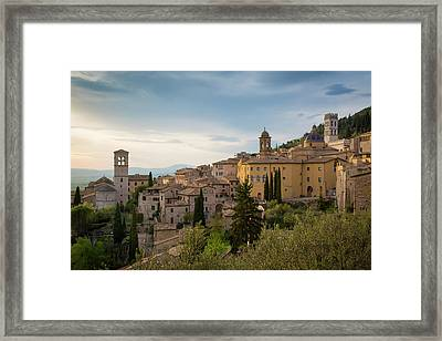 Evening View Over Assisi, Umbria, Italy Framed Print by Brian Jannsen