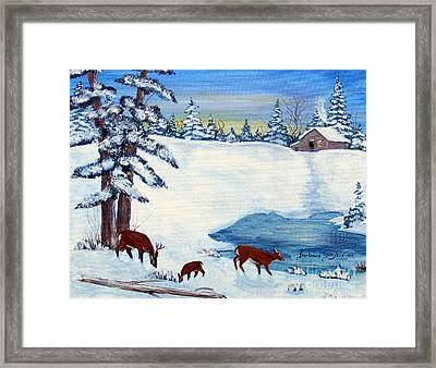 Evening Visitors Framed Print by Barbara Griffin