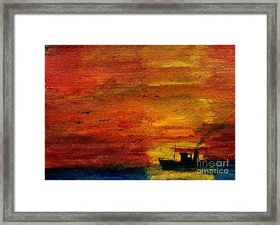 Evening Visitors Framed Print by R Kyllo