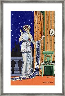 Evening Wear From Costume Parisien Framed Print by Robert Pichenot