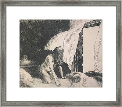 Evening Wind Framed Print by Edward Hopper