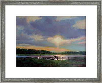Evening's Last Glow Framed Print by Dianne Panarelli Miller