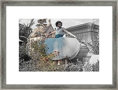 Ever Seen An Alice With A Blossom Like That Framed Print by Tracy  Tanner