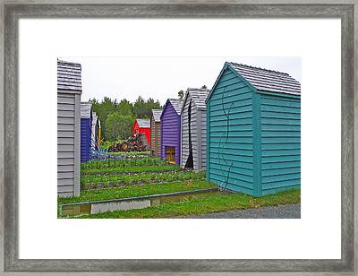 Every Garden Needs A Shed And Lawn Two In Les Jardins De Metis/reford Gardens Near Grand Metis-qc Framed Print by Ruth Hager