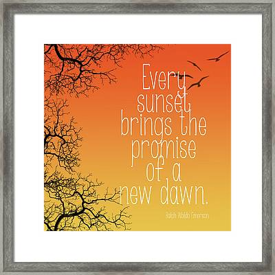 Every Sunset Framed Print by Heather Applegate