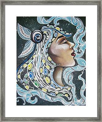 Everything Alters Me But Nothing Changes Me Framed Print by Julia  Kropinova