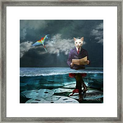 Everything Is A Matter Of Time Framed Print by Martine Roch