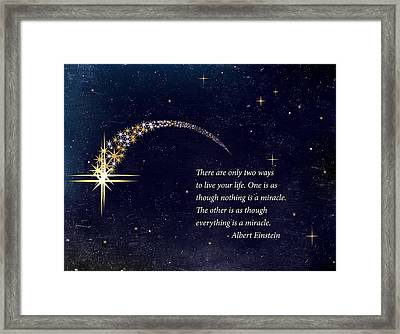 Everything Is A Miracle Framed Print by Stella Levi
