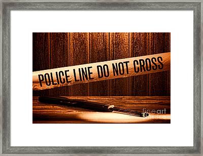 Evidence Framed Print by Olivier Le Queinec