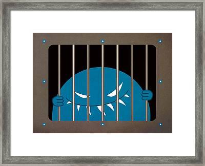 Evil Monster Kingpin Jailed Framed Print by Boriana Giormova