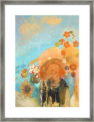 Evocation Of Roussel Framed Print by Odilon Redon