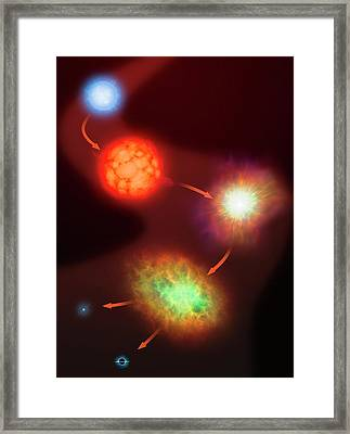 Evolution Of Massive Stars Framed Print by Mark Garlick