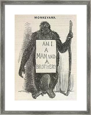 Evolution Satire 'monkeyana', 1861 Framed Print by British Library