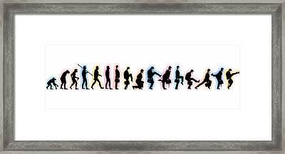 Evolution Framed Print by Tony Rubino