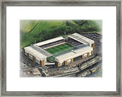Ewood Park - Blackburn Rovers Framed Print by Kevin Fletcher