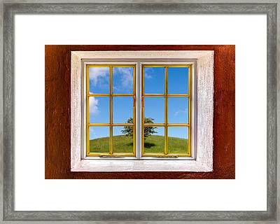Exactly In The Middle Framed Print by Semmick Photo
