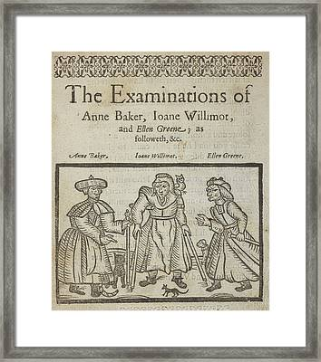 Examining Witches Framed Print by British Library