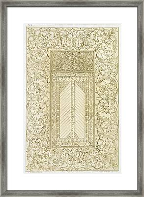 Example Of A Turkish Chimney Framed Print by Jean Francois Albanis de Beaumont