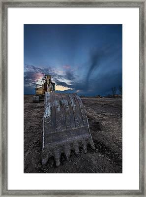 Excavator 2 Framed Print by Aaron J Groen