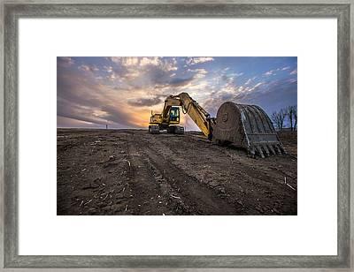 Excavator Framed Print by Aaron J Groen