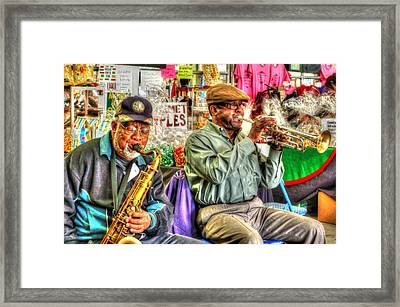 Excelsior Band Horn Players Framed Print by Michael Thomas