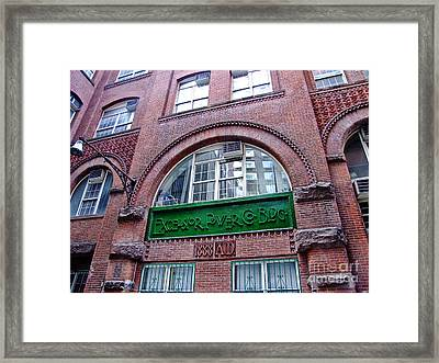Excelsior Power Company Building Framed Print by Nishanth Gopinathan