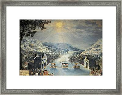 Exchange Of Princesses Anne Of Austria Framed Print by Everett