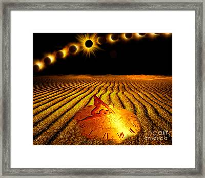 Exclipse Over Desert Framed Print by Mike Agliolo