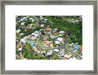 Exclusive Houses On Hilltop Cul-de-sac Framed Print by Panoramic Images