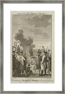 Execution By Burning Framed Print by British Library