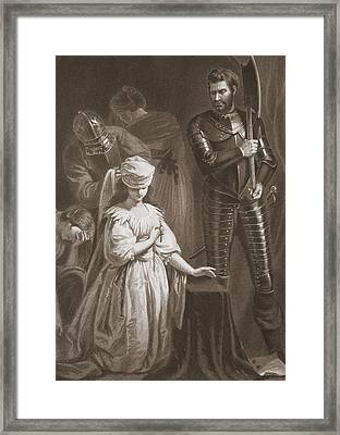 Execution Of Mary Queen Of Scots Framed Print by John Opie