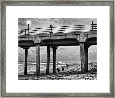 Exercise Framed Print by Ron Regalado