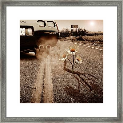 Exhausting Pipe Flowers Framed Print by Marian Voicu