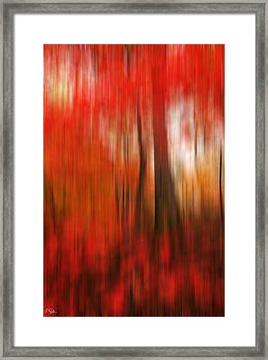 Existing Red Framed Print by Lourry Legarde
