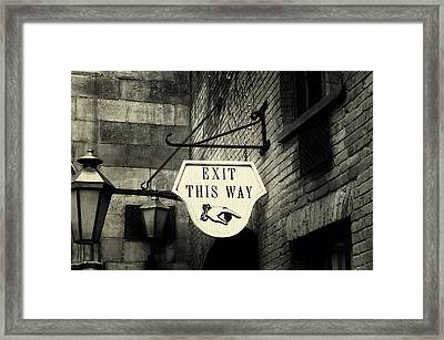 Exit This Way Framed Print by Laurie Perry