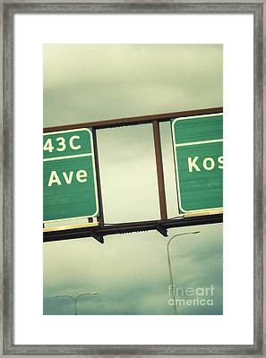 Exits Framed Print by Margie Hurwich