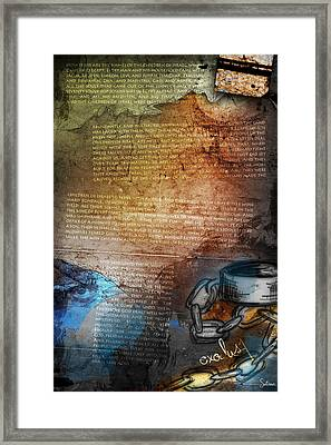 Exodus 1 Framed Print by Switchvues Design