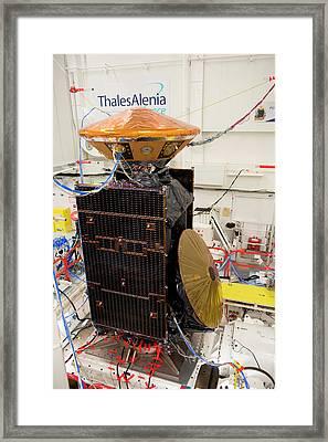 Exomars Spacecraft Vibration Testing Framed Print by European Space Agency/s. Corvaja