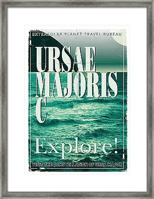 Exoplanet 03 Travel Poster Ursae Majoris Framed Print by Chungkong Art