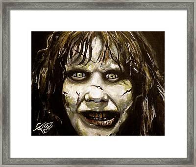 Exorcist Framed Print by Tom Carlton