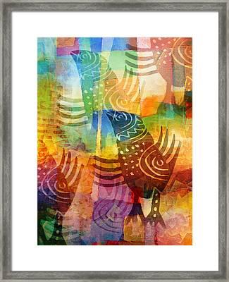 Exotic Birds Framed Print by Lutz Baar