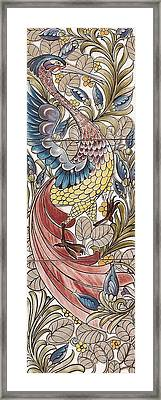 Exotic Birds Pattern Framed Print by Philip Ralley
