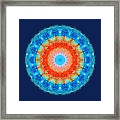 Expanding Energy 1 - Mandala Art By Sharon Cummings Framed Print by Sharon Cummings