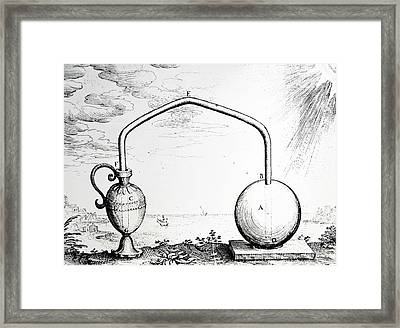 Expansion Of Air By Heat Framed Print by Universal History Archive/uig